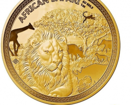 African Safari Lion 1 oz Gold 2018 Proof