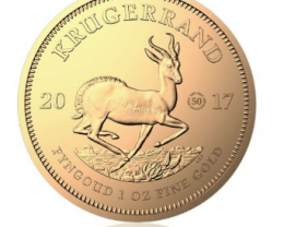 South Africa 1 oz Gold Krugerrand 2017 Proof  (Ann.)