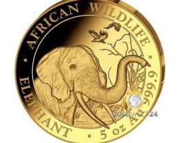 Somalia Elephant 5 oz Gold Proof Coin 2018