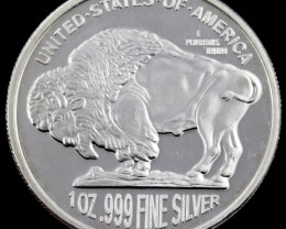 2014 one ounce silver buffalo coin 99.9%