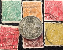 500 Silver Florin coin plus stamps J2600