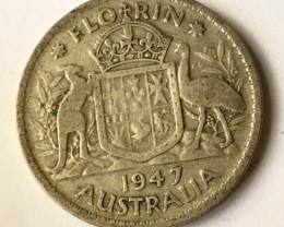 Australian Florin 500 silver J2623