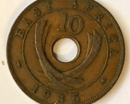 1935 British East africa 10 cents   J2635
