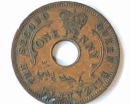 1959 British Nigeria  one penny  J2638