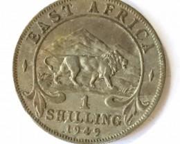 1949 British East africa one shilling   J2639