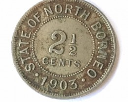 1903 British North Borneo 2.5 cents   J2640