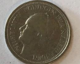 Nederland s  Kingdom  silver coin  10 cents  J2643