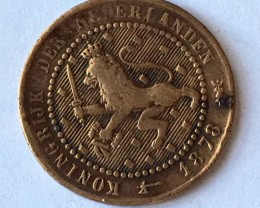 Nederlands   Kingdom one cent  silver coin J2647