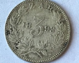 Union south Africa   silver coin  3 Zar J2653