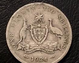Aussie Florin  .925 SILVER COIN J 2657