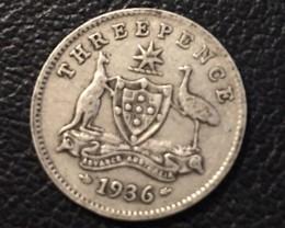 Pre war  925 Silver Three pence 6 coins J 2670