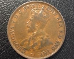 Australian Penny coin King George V J 2706