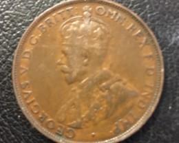 Australian Penny coin King George V J 2708