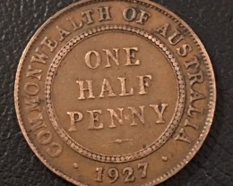 1927 Australian Penny coin King George V J 2713