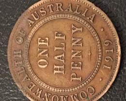 Australian Half Penny Coins