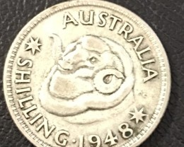 1948  .500 Shilling SILVER COIN J 2720