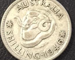 1946 SHILLING 500  SILVER COIN J 2721
