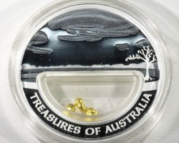 ONE OUNCE   TREASURES OF AUSTRALIA GOLD AND SILVER COIN