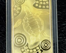Replica  Gold Plated 100 Gram Turtle Bar J 1734