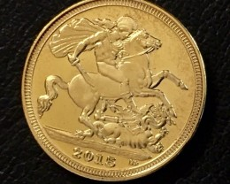 Replica  Gold  Plated Soverign Queen elizabeth   2015