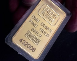 Replica  Gold Credit Suisse 1oz Gold Plated  Bar J 2731
