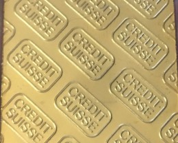 Replica  Gold Credit Suisse 1oz Gold Plated  Bar J 272