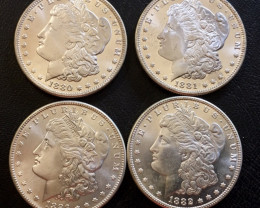 1880-1883 Replica set four   Morgan Dollars   J2766
