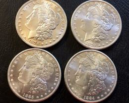 1800s  Replica  four   Morgan Dollar   J2775