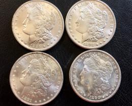 1884 1898 1891 1890 s  Replica  four   Morgan Dollar   J2776