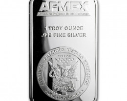 Precious metals one ounce  Pure Silver 99.9%