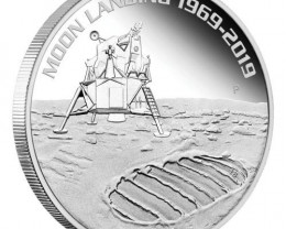 Moon Landing 50th  Anniversary , Pure Silver 99.9% one Ounce