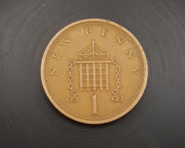 ONE NEW PENNY 1974 COIN.