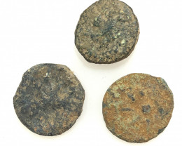 Original as found, 3 Judean Bronze coins Found Holy land CP 160