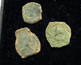 THREE Genuine 2,000-Year-old Widows mite Coin CP 281