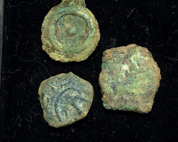 THREE Genuine 2,000-Year-old Widows mite Coin CP 283