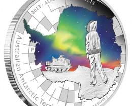 Aurora Australis One ounce silver 2013