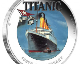 100TH ANNIVERSARY OF RMS TITANIC 2012 1OZ SILVER PROOF COIN