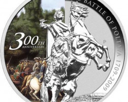 300th Anniversary of the Battle of Poltava 1oz Silver Coin