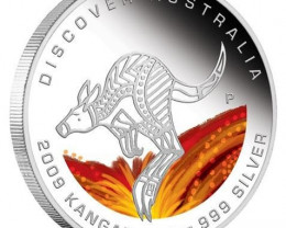 Discover Australia 2009 Dreaming – Kangaroo 1oz Silver Coin