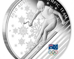 2010 Australian Olympic Winter Team 1oz Silver Proof Coin