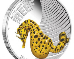 Australian Sea Life 1/2oz Silver Proof Seahorse Coin