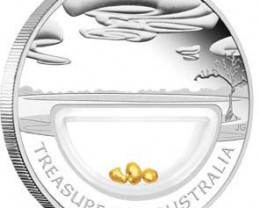 TREASURES OF AUSTRALIA GOLD AND SILVER COIN