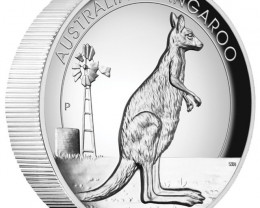 Australian Kangaroo 2012 1oz Silver Proof High Relief