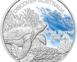 Discover Australia 2006 Great Barrier Reef 1oz Silver Coin