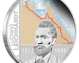 Ludwig Leichhardt 2013 2oz Silver Proof Coin