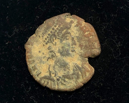 As Found Ancient Roman  bronzeCoin  CP 315