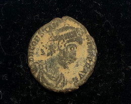 As Found Ancient Roman  bronzeCoin  CP 306