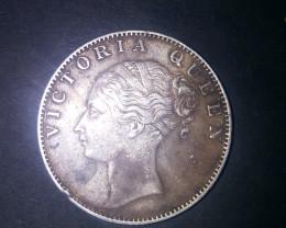 Sliver coin  1 Rupee - Victoria Queen