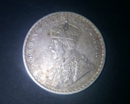 Sliver coin  1 Rupee - George Vking emperor 1919