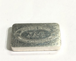 XAG one ounce silver bar 99.9 % silver CP 331